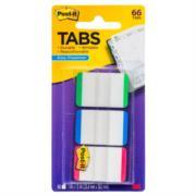 686L-GBR Banderitas 3M Adhesivas Rígidas Post-It Colores Primarios 1x1.5in 66 Banderitas Caja con 6 Paquetes