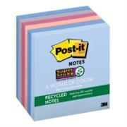 Notas Recicladas 3M Super Sticky 7.6x7.6cm Color Campiña Frutal 6 Blocks 65 Hojas c/u