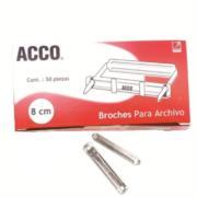Broche Acco No.8 cm P1580 C/50 Pzas