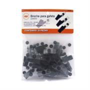 Broche Caimán Acco Plástico Negro para Gafete Bolsa con 25 Piezas
