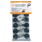 Broche Retráctil Acco Negro para Gafete Bolsa con 25 Piezas