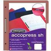 Carpeta Acco Press MC Papel Carta Color Caoba C/10 Pzas