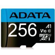 Micro SD Adata Premier V10 F HD Clase 10 A1 256 GB Color Azul