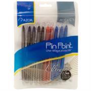Bolígrafo Azor Pin Point UltraFino Redondo Punta Aguja Fina 0.5 mm Colores Surtidos C/10