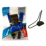 Boligrafo Azor Pin Point Holder Redondo 0.7 mm Color Azul C/3