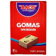 Goma Baco Migajón MG-20 Caja c/20 Pzas