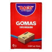 Goma Baco Migajón MG-40 Caja c/40 Pzas