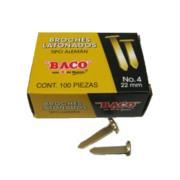 BROCHE BACO LATONADO TIPO ALEMAN BACO 22MM C/100