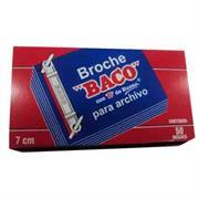 BROCHE BACO ECONOMICO CAJA ROJA DE 7 CMS C/50 PZAS