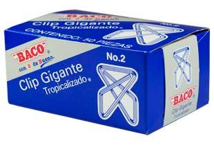 CLIP BACO GIGANTE 2 ZINCADO C/50