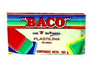 PLASTILINA BACO MARQUETA 180GR BLANCA No.60