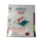 Separador Baco Plástico 5 Divisiones Carta Colores