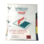 Separador Baco Plástico 5 Divisiones Oficio Colores