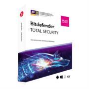 Licencia Antivirus Bitdefender Total Security MD 1 Año 3 Usuarios Caja