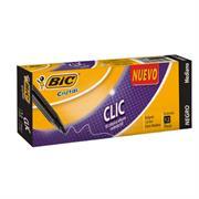 BOLIGRAFO BIC CRISTAL CLIC NEGRO RETRACTIL 1.0 C/12