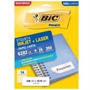 ETIQUETAS BIC CARTA INKJET LASER 50.8 X 101.6 BLANCA PQ C/10