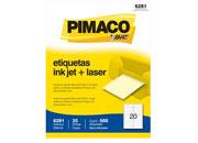 ETIQUETAS BIC CARTA INKJET LASER 25.4 X 101.6 BLANCA PQ C/10