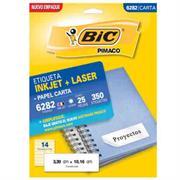 ETIQUETAS BIC CARTA INKJET LASER 33.9 X 101.6 BLANCAS PQ C/2