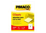 ETIQUETAS BIC CD/DVD CARTA BLANCA 115MM C/25