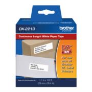 CINTA BROTHER PAPEL BLANCO CONTINUO 1-1/7 x 100 PI