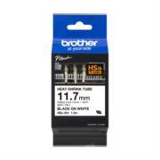 Cinta Brother HSE231 Termorretráctil Ancho 11.7mm Texto Negro Sobre Fondo Blanco