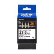 Cinta Brother HSE251 Termorretráctil Ancho 23.6mm Texto Negro Sobre Fondo Blanco