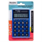 Calculadora Barrilito Bolsillo 12 Digitos Doble Fuente Poder