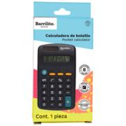 Calculadora Barrilito Bolsillo 8 Digitos 1 Pza