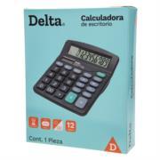 Calculadora Barrilito Delta Escritorio 12 Dígitos 13.2x11 cm Batería de Botón