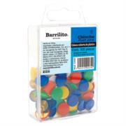 Tachuelas Barrilito Cabeza de Plástico Colores Surtidos C/100 Pzas