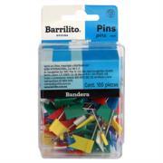 Pines Banderas Barrilito Caja C/100 Pzas