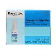 Corrector Líquido Barrilito Dual Bote 10ml 1 Pza