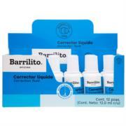 Corrector Líquido Barrilito Bote 12ml 1 Pza