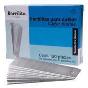 Cuchillas Barrilito Repuesto Grande Caja C/10 Tubos