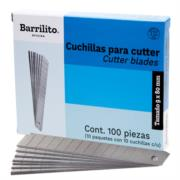 Cuchillas Barrilito Repuesto Mediana Caja C/10 Tubos