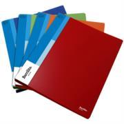Folder Barrilito Plástico Carta Broche Metálico Presión C/6 Pzas
