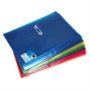Sobre Barrilito Plástico con Hilo Carta Horizontal Colores Surtidos Paq C/12 Pzas