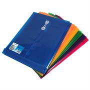 Sobre Barrilito Plástico con Hilo Carta Vertical Colores Surtidos Paq C/12 Pzas