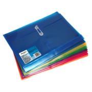 Sobre Barrilito Plástico con Hilo Oficio Horizontal Colores Surtidos Paq C/12 Pzas