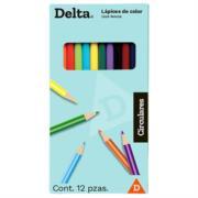 Colores Barrilito Delta Redondos Largos C/12 Pzas