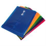 Sobre Barrilito Plástico con Hilo Oficio Vertical Colores Surtidos Paq C/12 Pzas