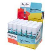 Lápiz Adhesivo Barrilito 9 g Caja C/24 Pzas