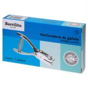 Perforadora Barrilito Gafetes Metálica Color Plata
