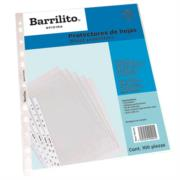Protectores de Hojas Barrilito Ligeros Paquete C/100 Pzas