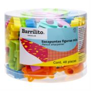 Sacapuntas Barrilito Mix Figuras Bote C/48 Pzas
