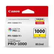 TINTA CANON AMARILLO PFI-1000 Y 80ML