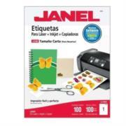 Etiqueta Janel 109 Láser 25x102 100 Hojas c/2000
