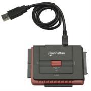Adaptador Manhattan USB Alta Velocidad 2.0 SATA/IDE Color Negro