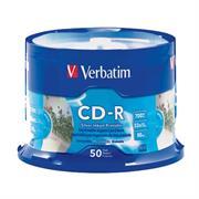 DISCO COMPACTO VERBATIM R 52X 80MIN 700MB IMPR PLATA C/50