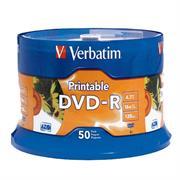 DVD-R VERBATIM 4.7GB 16X BLANCO INK C/50